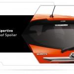 Exterior all new yaris bagian belakang - TRD Sportivo rear roof spoiler.