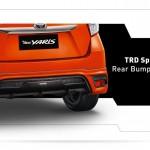 Exterior all new yaris bagian belakang bumper - TRD Sportivo rear bumper spoiler.