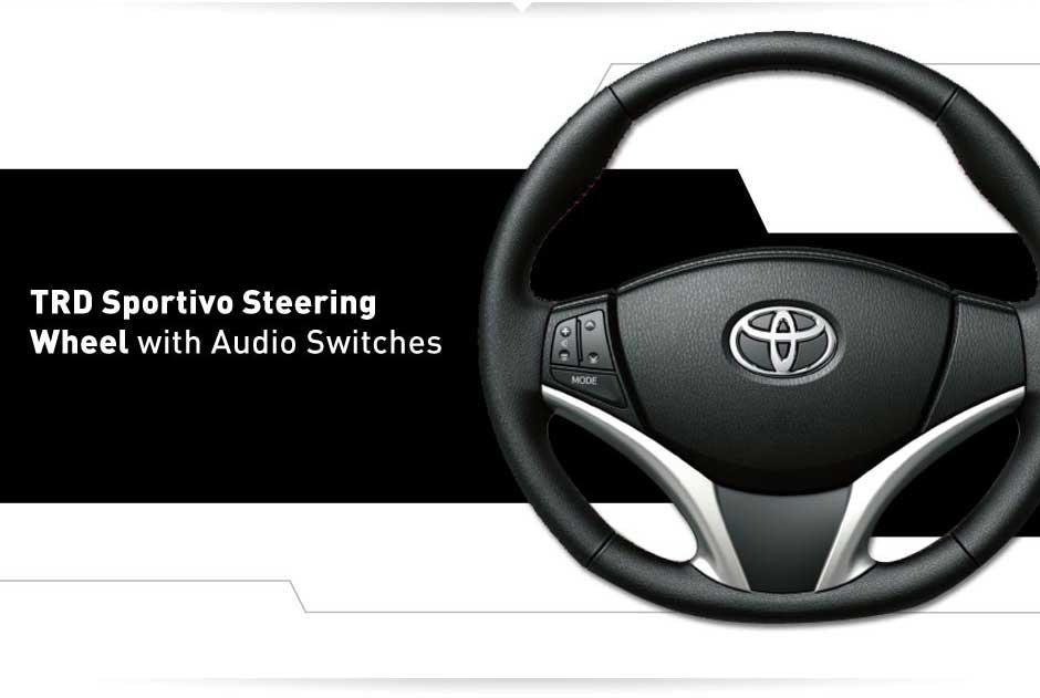 Interior Yaris bagian stir mobil - TRD sportivo steering wheel