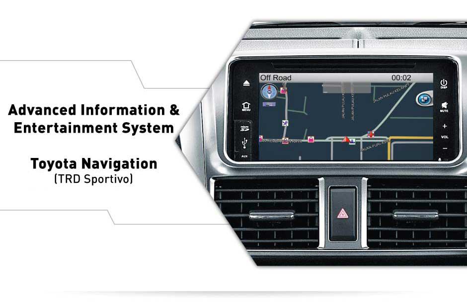 interior all new yaris bagian gps - Toyota navigation pada dashboard