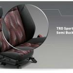 interior dalam all new yaris bagian tempat duduk - TRD sportivo semi bucket seat
