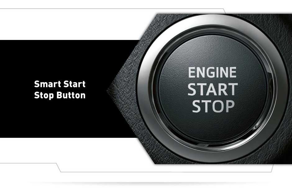 interior dalam all new yaris engine start stop - Smart start stop button