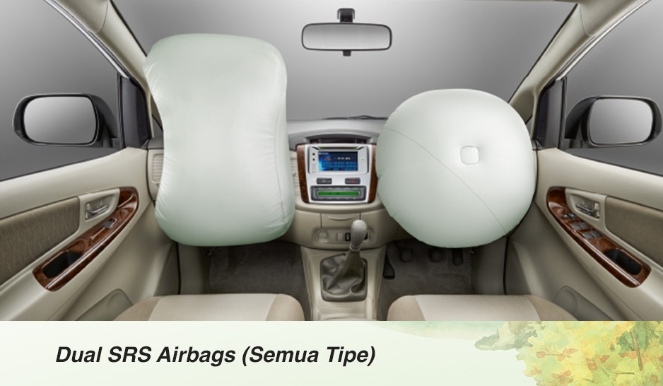 Fitur safety dan keamanan Toyota Kijang Innova - dual srs airbags