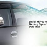 Toyota Kijang Innova aksesoris - cover mirror painted with turning signal lamp