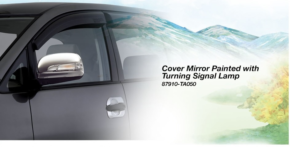 Toyota Kijang Innova aksesoris - cover mirror painted with turning signal lamp