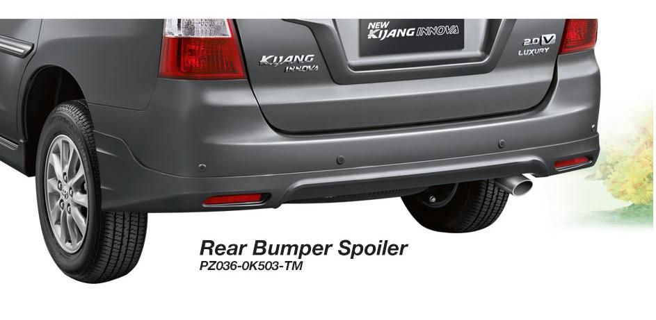 Toyota Kijang Innova aksesoris - rear bumper spoiler