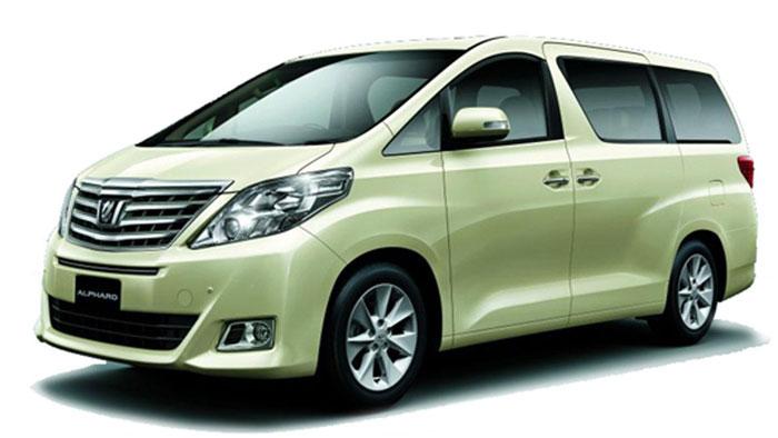 Toyota alphard hijau