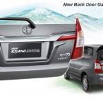 kijang innova new back door garnish panel