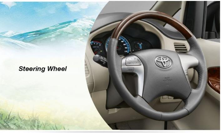 toyota innova interior steering wheel keren