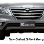 toyota innova new gallant grille and bumper