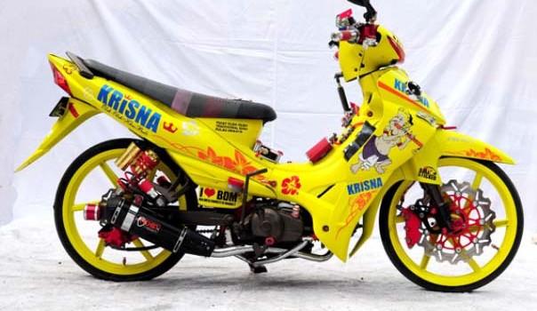 gambar Modifikasi Motor Yamaha jupiter z jadi motor sport