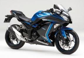 Kawasaki Ninja 250 FI warna biru 54 jutaan