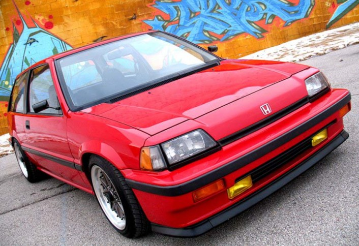 mobil retro keren Honda Civic Wonder merah