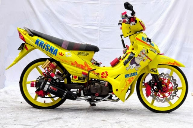 gambar modifikasi jupiter z kuning macho