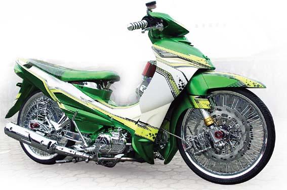 modifikasi keren tampilan yamaha jupiter z warna hijau cool