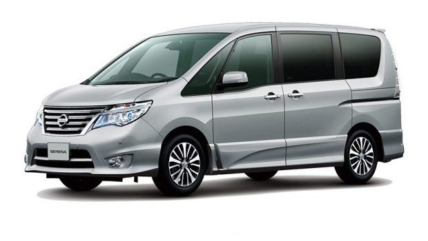 mobil van Nissan Serena silver