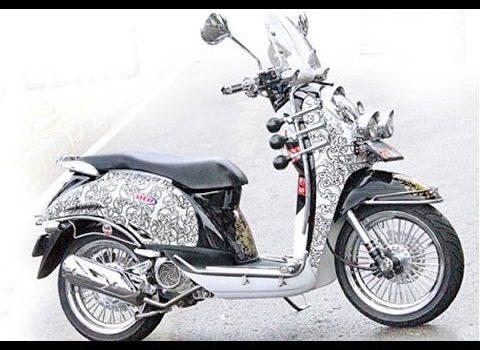 Gambar modif Motor Scoopy classic
