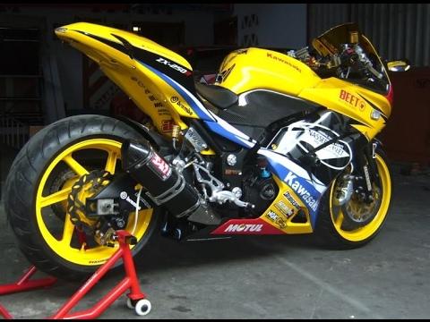 Modifikasi kawasaki ninja keren warna kuning