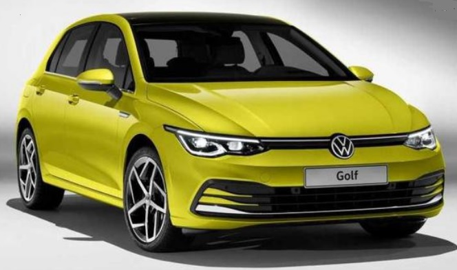 VW Golf yellow