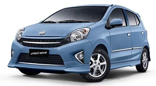 Toyota Agya Tipe E AT warna biru
